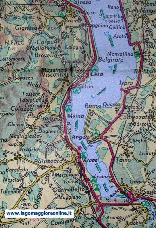 Lago Maggiore Cartina Stradale.Cartina Lago Maggiore Mappa Cartina Lago Maggiore