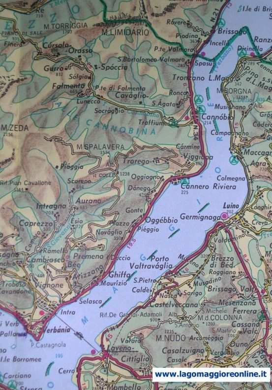 Cartina Stradale Lago Maggiore.Cartina Geografica Lago Maggiore