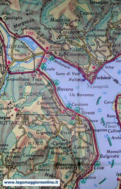 Lago Maggiore Cartina Stradale.Cartina Geografica Lago Maggiore
